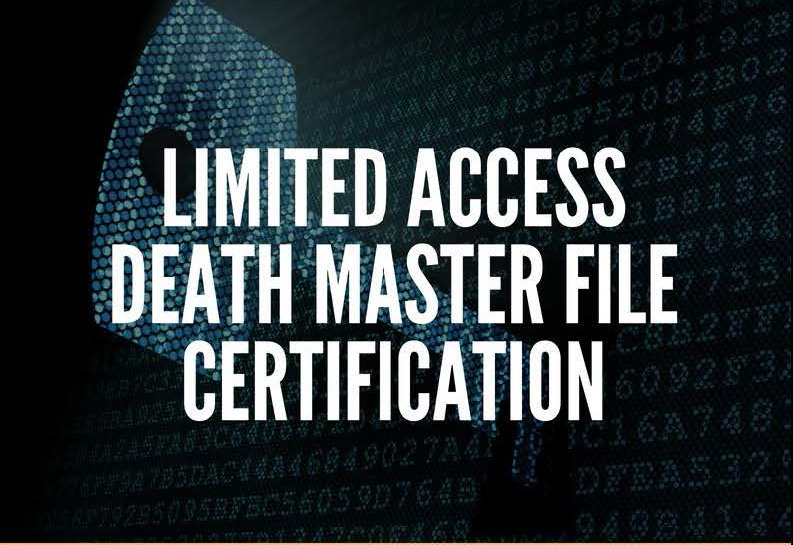 Limited access death master file certification